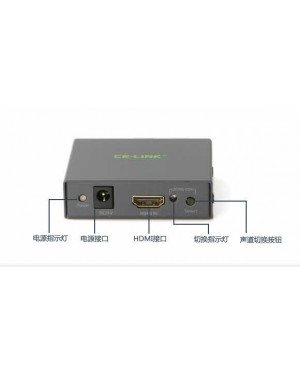 CE-LINK PRO 2283 HDMI to Coax/Opt/3.5 Audio Splitter 音頻分離器